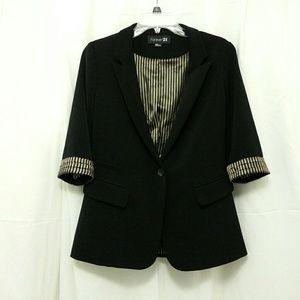 Forever 21 | 3/4 slv blazer w/ tan & black lining